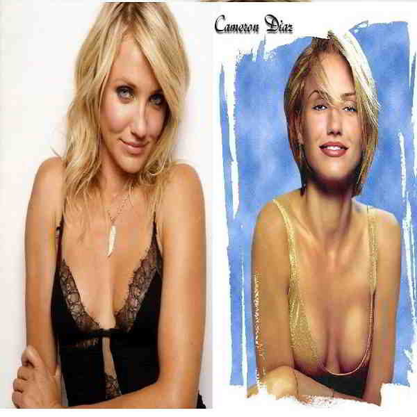Cameron Diaz bra and breast size