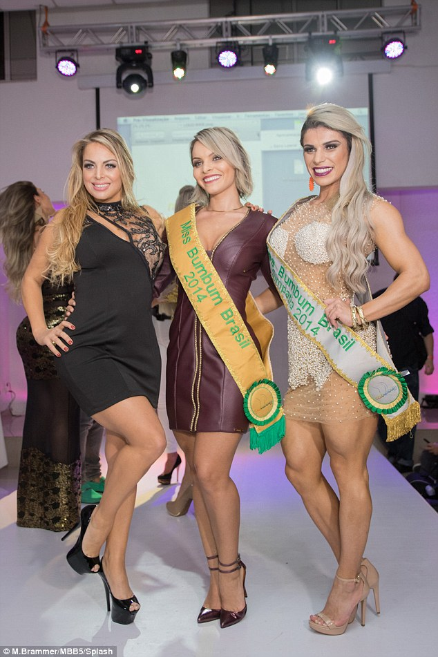 .Ambition: Jessica, from Porto Alegre, southern Brazil, was a high school maths teacher before finding overnight fame after entering the national Miss Bumbum contest. She gave up teaching because she was bullied by colleagues over her 'Playboy Bunny' looks