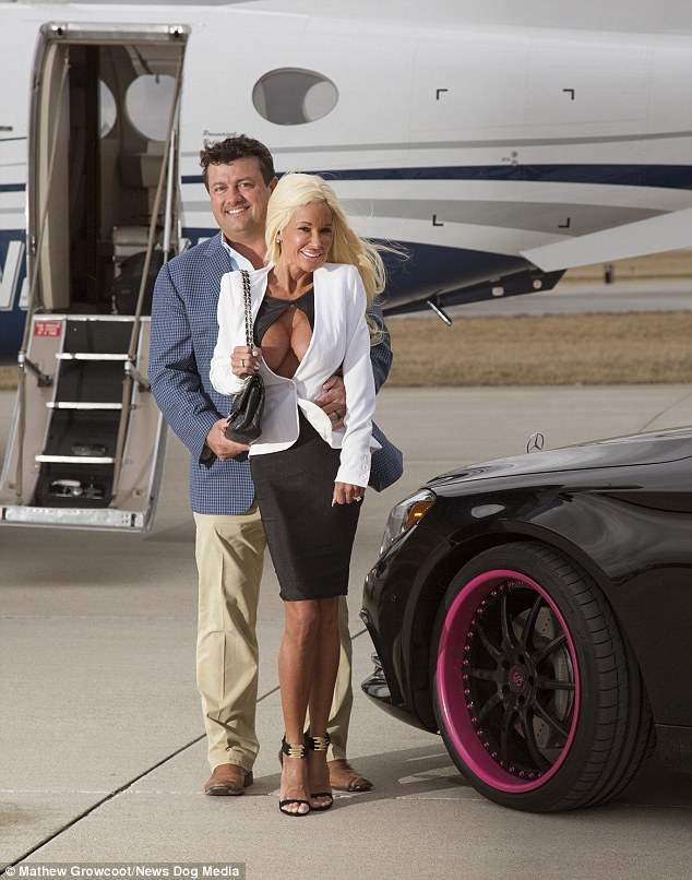 The full-time mum not only looks like a Barbie but has the dream lifestyle of one too. She lives in a enormous house with husband Dave who has two private jets and affords the family a luxurious lifestyle
