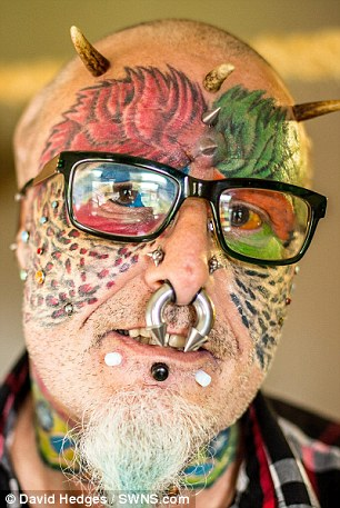 Ted, from Hartcliffe, Bristol, has spent years undergoing plastic surgery so he looks like his pet parrots