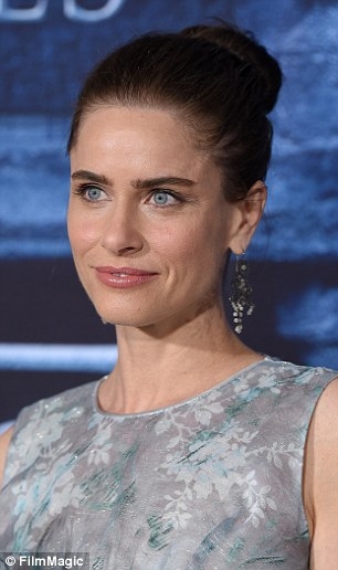 Then and now: Actress Amanda Peet, pictured earlier this month, admits that she feels she is being 'pushed out' by younger stars like Alicia Vikander because she looks older