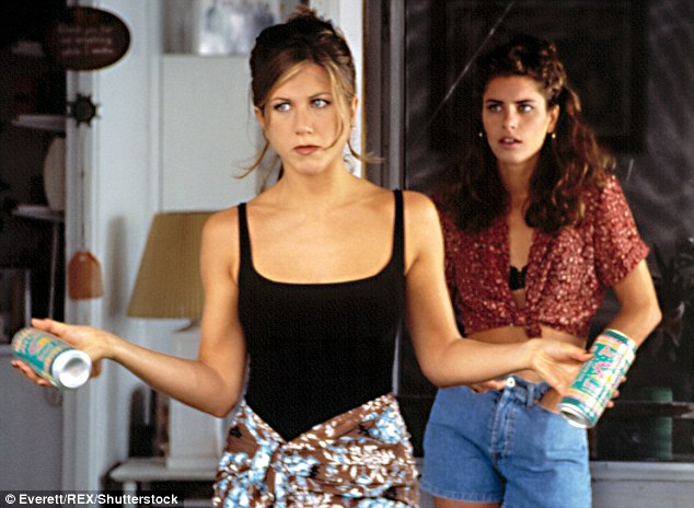 Screen star: The mom-of-three enjoyed many successful supporting roles at the start of her career, including starring alongside Jennifer Aniston in 1996 hit She's The One (pictured)
