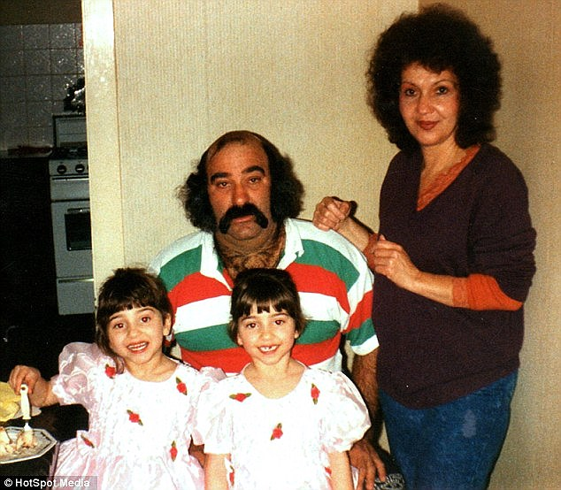 Missing their father: The girls said their father (pictured) often struggled to tell them apart when they were younger