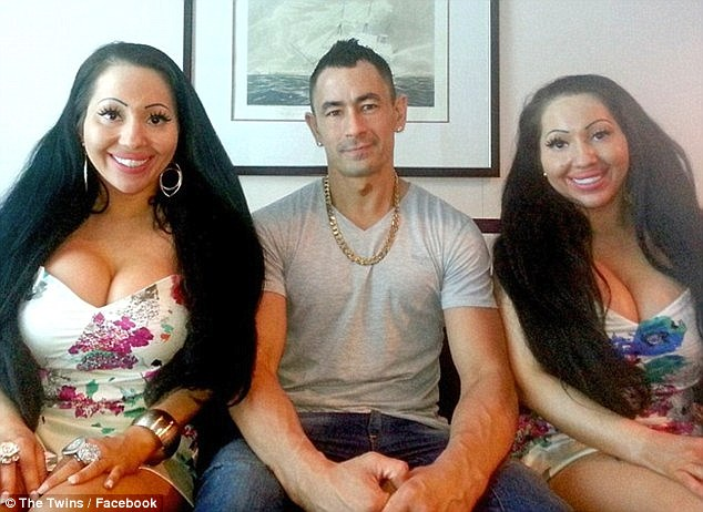 'Maybe Ben can marry the both of us': The sisters then discussed their controversial relationship with electrical mechanic Ben Byrne (centre), who they have been with for four years