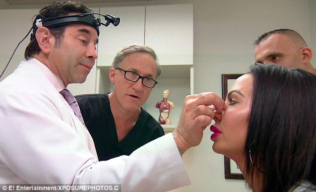 Dr Nassif said that in order to help her breathe better they would have to make her nose larger