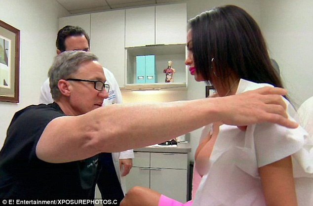 Star flew to LA to meet doctors on E! show Botched about having another breast enlargement operation