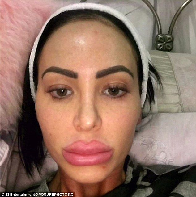 She says she wants to be 'as fake as possible', adding that 'everything' about her is fake. Star has had two boob jobs, a nose job, Botox injections and has lip fillers every three months